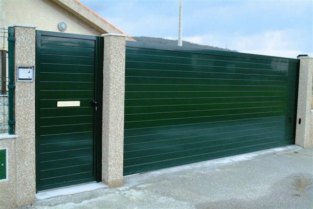 Puertas correderas laterales aluminio - Proyecto puerta de garaje ...