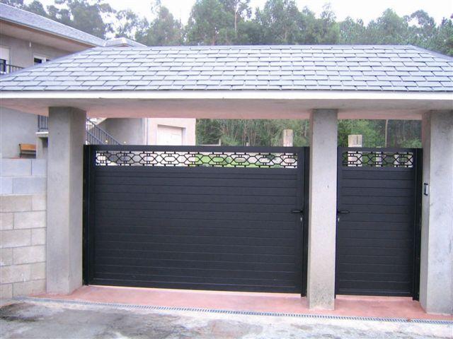 Puerta abatibles de aluminio - Puertas abatibles garaje ...