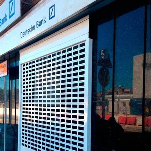 puerta enrollable de aluminio extrusionado